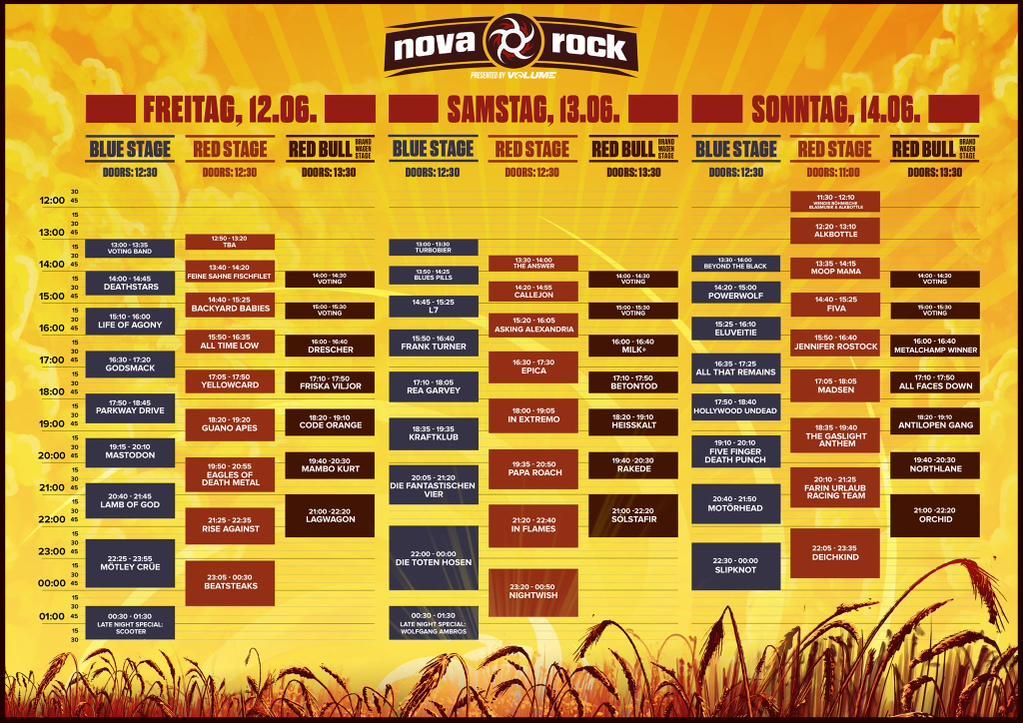 Image Result For Nova Rock Line Up